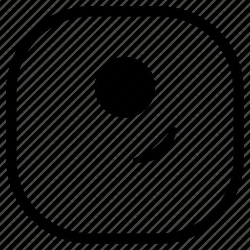 cyclops, emoji, emoticon, smile, smiley, smirk icon