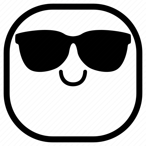 cool, emoji, emoticon, smile, smiley, sunglasses icon