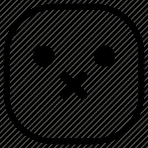 emoji, emoticon, silence, silent, smiley icon