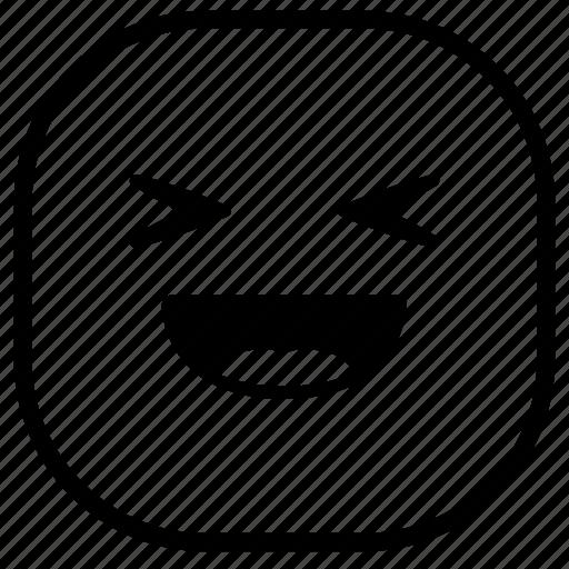 emoji, emoticon, laugh, smiley, taunt icon