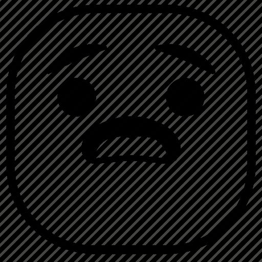 emoji, emoticon, smiley, surprised, wondering icon