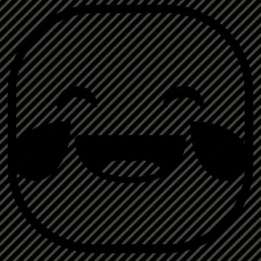 drops, emoji, emoticon, laugh, lol, smiley icon
