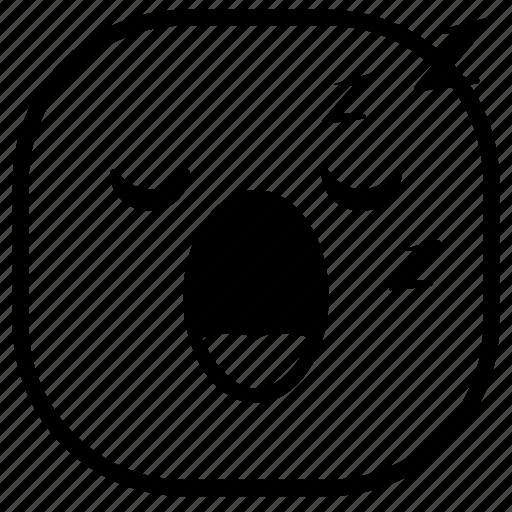 emoji, emoticon, sleep, sleepy, smiley icon