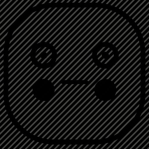 emoji, emoticon, puppet, shy, smiley icon