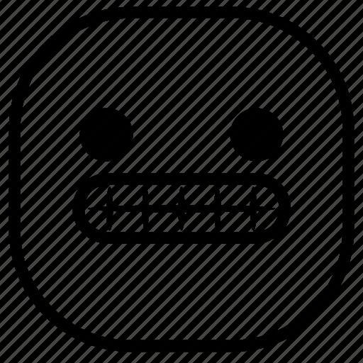 emoji, emoticon, smile, smiley, teeth icon