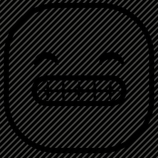 emoji, emoticon, happy, smile, smiley, teeth icon