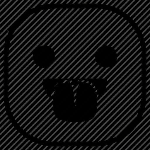 emoji, emoticon, smiley, taunt, tongue icon