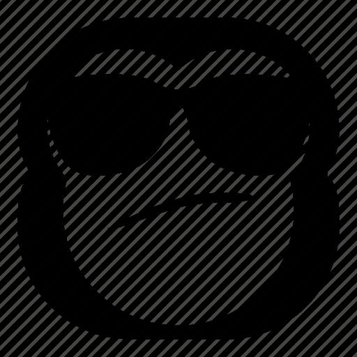 chimp, chimpanse, cool, monkey, sunglasses icon