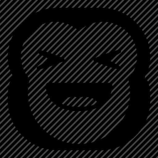 chimp, chimpanse, laugh, monkey, taunt icon