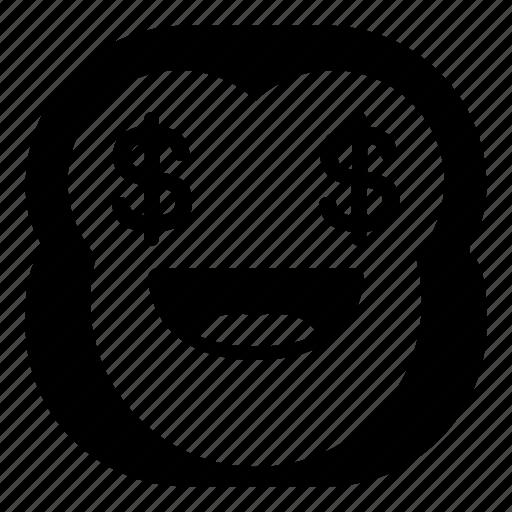 chimp, chimpanse, dollars, money, monkey icon