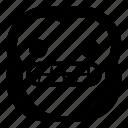 chimp, chimpanse, monkey, smile, teeth icon