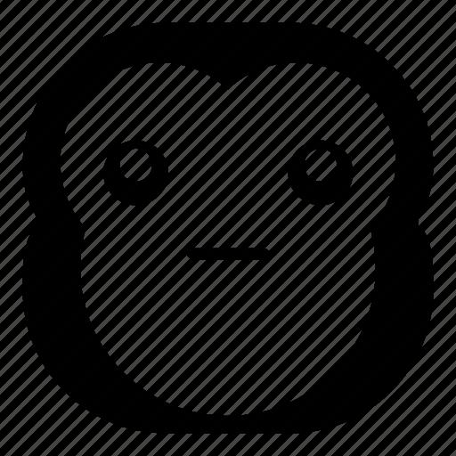 chimp, chimpanse, faceless, monkey, surprised, wondering icon