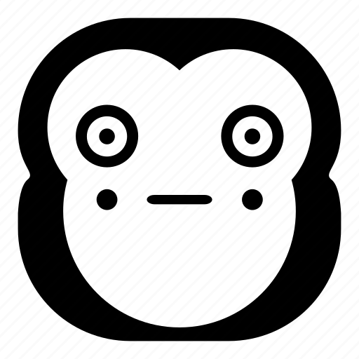 chimp, chimpanse, monkey, puppet, shy, surprised icon