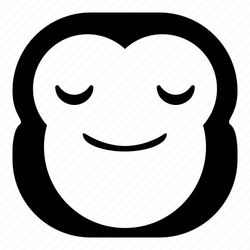 chimp, chimpanse, enjoy, monkey, smile icon