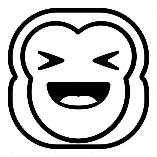 chimp, chimpanse, laugh, monkey, taunt icon