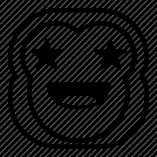 chimp, chimpanse, favorite, monkey, stars icon