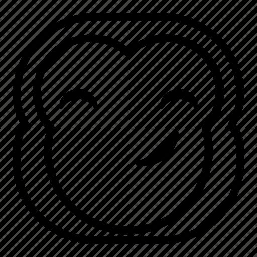 chimp, chimpanse, monkey, smile, smirk icon