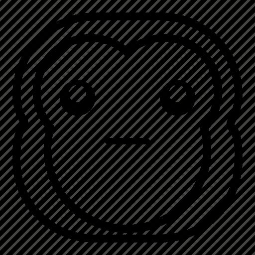 chimp, chimpanse, monkey, surprised, wondering icon