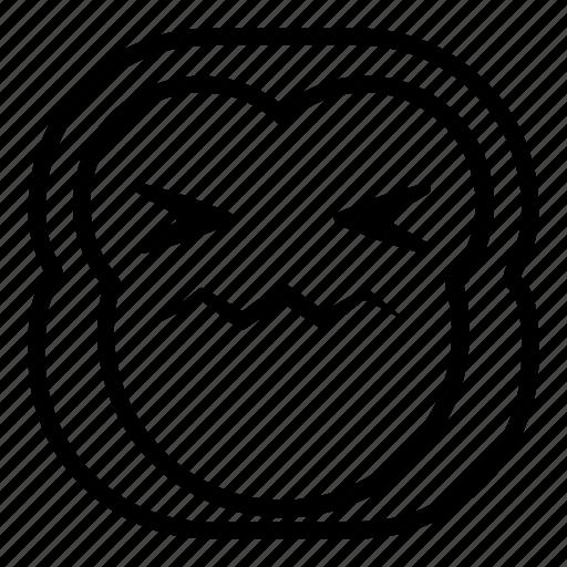 chimp, chimpanse, gross, hurt, monkey, sick icon