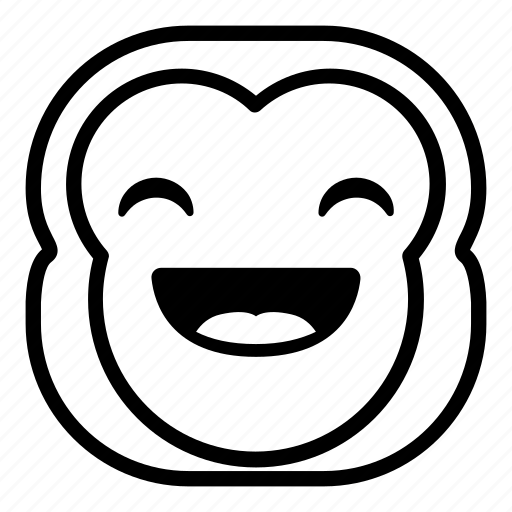 chimp, chimpanse, happy, laugh, monkey icon