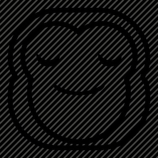 chimp, chimpanse, enjoy, monkey, smile icon