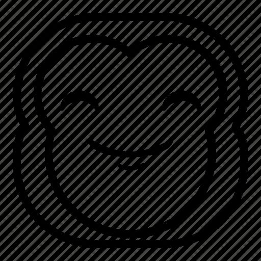 chimp, chimpanse, happy, monkey, smile icon