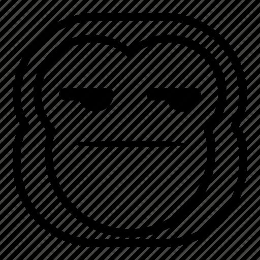 chimp, chimpanse, faceless, flat face, monkey icon