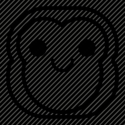 chimp, chimpanse, monkey, smile icon