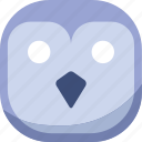 bird, dying, emoji, emoticon, owl, smiley, wondering icon