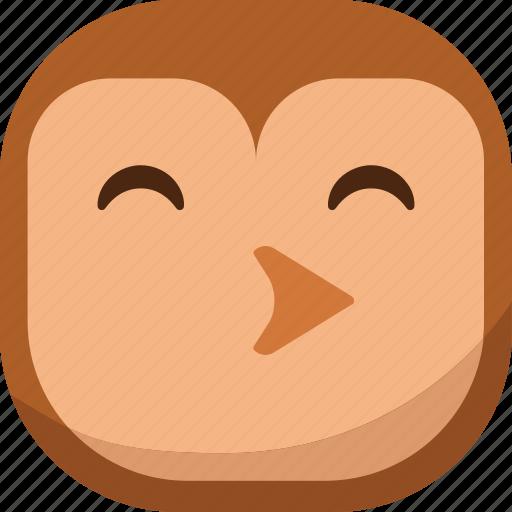 bird, emoji, emoticon, owl, smiley, whistle icon