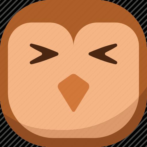 bird, emoji, emoticon, hurt, owl, sick, smiley icon