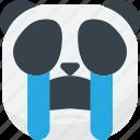 asian, cry, emoji, emoticon, panda, smiley, tears icon