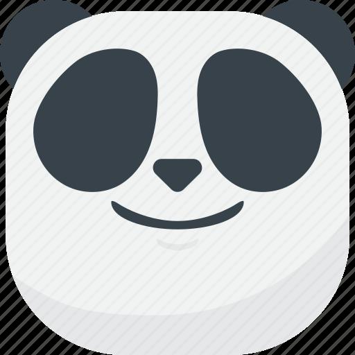 asian, emoji, emoticon, happy, panda, smile, smiley icon