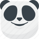 asian, emoji, emoticon, panda, smile, smiley, smirk icon