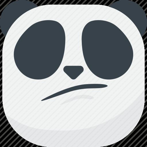 asian, disappointed, emoji, emoticon, panda, sad, smiley icon