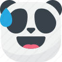 asian, drop, emoji, emoticon, laugh, panda, smiley icon