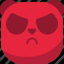 angry, asian, emoji, emoticon, evil, panda, smiley icon