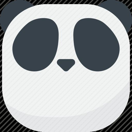 asian, emoji, emoticon, faceless, flat face, panda, smiley icon