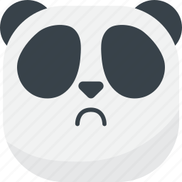 asian, disappointed, emoji, emoticon, panda, sad, smiley icon