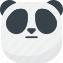 asian, emoji, emoticon, faceless, flat face, panda, smiley icon