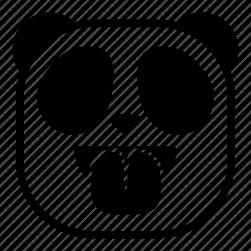 animal, asian, panda, taunt, tongue icon