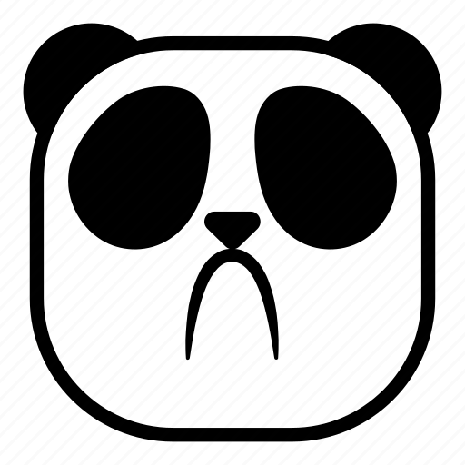 animal, asian, disappointed, panda, sad icon