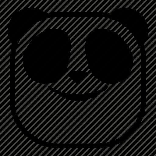 animal, asian, panda, smile, smirk icon
