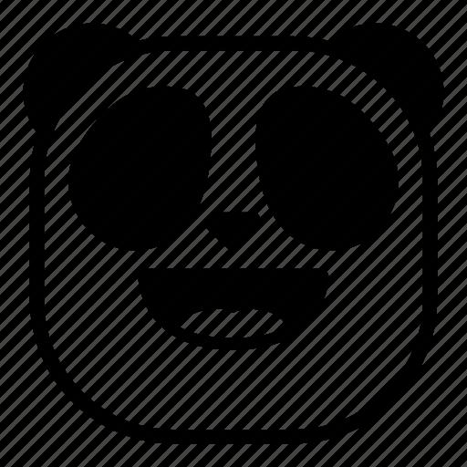 animal, asian, happy, laugh, panda icon