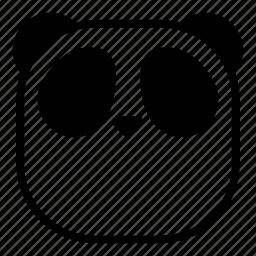 animal, asian, faceless, flat face, panda icon