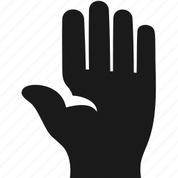 finger, gesture, hand, pointer, top icon