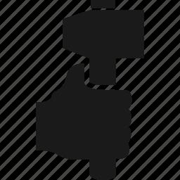 finger, gesture, hammer, hand, pointer icon