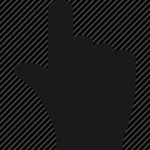 finger, gesture, hand, pointer, top icon