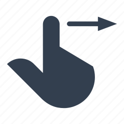 arrow, direction, finger, gestures, hands, move, right, screen, slide, touch icon