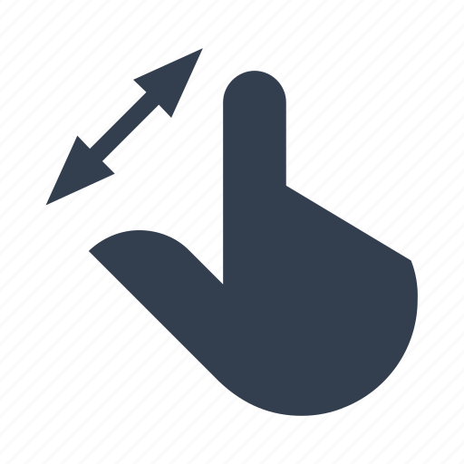 arrow, diagonale, direction, finger, gestures, hands, scale, screen, touch icon